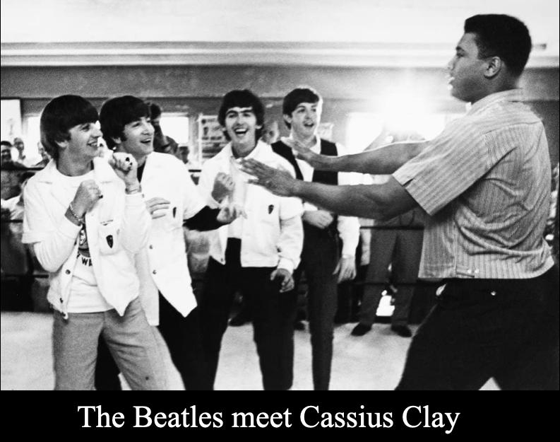 Beatles Meet Cassius Clay